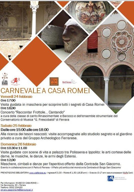 Museo di casa romei programma del carnevale for Calcolatore del programma di casa